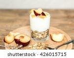 healthy breakfast  granola ...   Shutterstock . vector #426015715