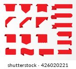 vector ribbon banners.set of... | Shutterstock .eps vector #426020221