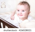 child playing in a bed and does ... | Shutterstock . vector #426028021