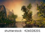 3d landscape illustration where ... | Shutterstock . vector #426028201