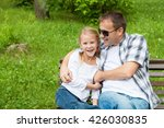 father and daughter playing at... | Shutterstock . vector #426030835