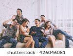 group of asian friends having... | Shutterstock . vector #426046081