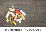 medical capsule or pill or drug....   Shutterstock . vector #426047059