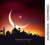 beautiful ramadan kareem... | Shutterstock .eps vector #426048661