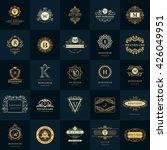 line graphics monogram. vintage ... | Shutterstock .eps vector #426049951
