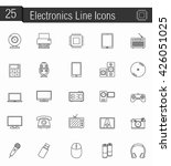 25 electronics line icons ...   Shutterstock .eps vector #426051025