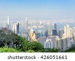 view of skyscrapers in business ... | Shutterstock . vector #426051661