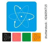 atom sign icon. atom part... | Shutterstock .eps vector #426054715