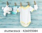 baby boy clothes  onesie with... | Shutterstock . vector #426055084