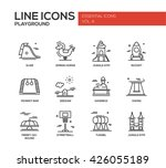 set of modern vector simple... | Shutterstock .eps vector #426055189