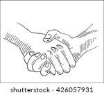 handshake business and... | Shutterstock .eps vector #426057931