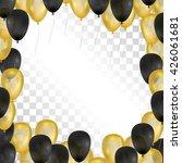balloons on transparent... | Shutterstock .eps vector #426061681