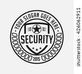 security logo. vector and...   Shutterstock .eps vector #426062911