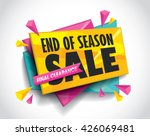 sale layout design with... | Shutterstock .eps vector #426069481