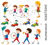 children in the band and doing...   Shutterstock .eps vector #426073345