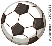 Football Ball On White...
