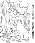 coloring pages. wild animals.... | Shutterstock .eps vector #426073765