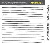 vector real hand lines   marker.... | Shutterstock .eps vector #426076237
