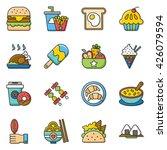 icon set food vector | Shutterstock .eps vector #426079594