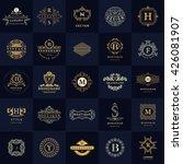 line graphics monogram. vintage ...   Shutterstock .eps vector #426081907