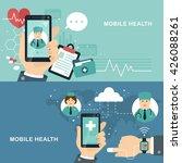 mobile health flat design... | Shutterstock . vector #426088261