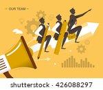 teamwork flat design...   Shutterstock . vector #426088297
