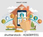 smart home flat design... | Shutterstock . vector #426089551