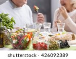 cropped picture of an elderly... | Shutterstock . vector #426092389