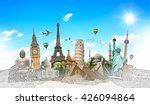 famous landmarks of the world... | Shutterstock . vector #426094864