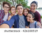 vietnamese friends taking... | Shutterstock . vector #426100519