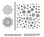 Mandala. Round ornament. Vintage decorative elements.Circular pattern of traditional motifs and ancient oriental ornaments. Hand drawn background.