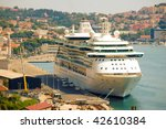 Cruise Ship Moored In Croatian...