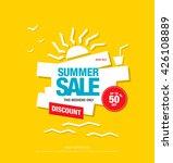 summer sale template banner.... | Shutterstock .eps vector #426108889