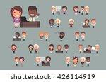 business people vector set | Shutterstock .eps vector #426114919