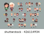 business people vector set | Shutterstock .eps vector #426114934