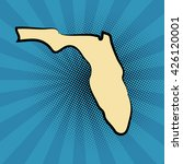 retro map of florida. stylized... | Shutterstock .eps vector #426120001