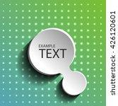 white banner on green background | Shutterstock .eps vector #426120601