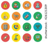 icons set hospital vector | Shutterstock .eps vector #426121309