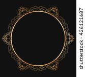 round lace border frame... | Shutterstock .eps vector #426121687