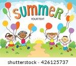 children are jumping  ob ...   Shutterstock . vector #426125737
