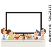 three generation family to see... | Shutterstock .eps vector #426128185