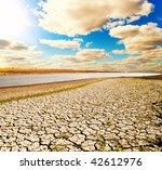 natural disaster. arid climate - stock photo