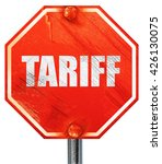 tariff  3d rendering  a red...
