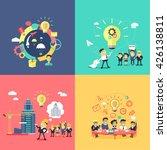 generation of ideas banners set.... | Shutterstock . vector #426138811