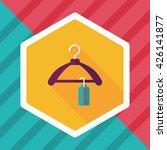 shopping clothes hanger flat... | Shutterstock .eps vector #426141877