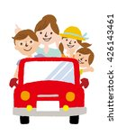 i go for a drive in families | Shutterstock .eps vector #426143461