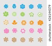 cute floral icon vector | Shutterstock .eps vector #426144379