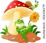 cute frog and snail cartoon... | Shutterstock . vector #426146179