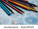 image of woman coloring  adult... | Shutterstock . vector #426149431
