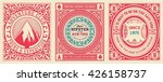 old cards set with floral... | Shutterstock .eps vector #426158737